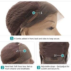 Image 5 - Rosabeauty, pelucas de cabello humano con Frontal de encaje liso de Bob Remy de Color Natural, peluca Frontal de encaje para mujeres negras