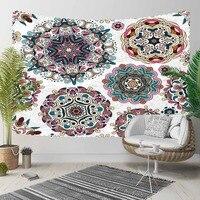 Autre rond géométrique rose bleu vert Mandala Design 3D impression décorative Hippi bohème tenture murale paysage tapisserie mur Art Tapisseries décoratives    -