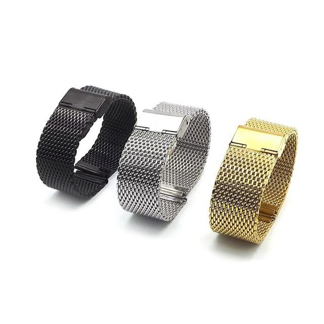 5f21f882db9 EACHE Milanese Laço Para Homens Malha Faixa de Relógio 22 MM Magnético pulseira  Pulseira de Banda