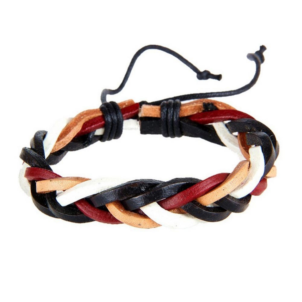 Hot Sale 2017 Fashion Simple Style Bracelet Hemp Rope Braided Leather Chain Unisex Cuff Bracelets Couple Bracelet Jewelry