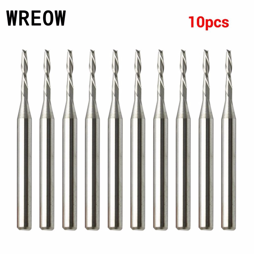 Flight Tracker 6 Pcs Mini Drill Bit Round Shank 3.175 Mm Cutting Tools Rotary Tool For Woodworking Knife Wood Carving Cnc Engraving Tools Hand & Power Tool Accessories Tools