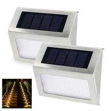 New Scenery 3led waterproof outdoor light led lamp with solar collector up down wall