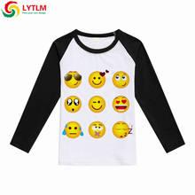 LYTLM Emoji Shirt Kids Girls Boys Tiny Cottons Autumn 2018 Children T-Shirts Cartoon Girl Tee Shirt Fille Boys Long Sleeve Tops