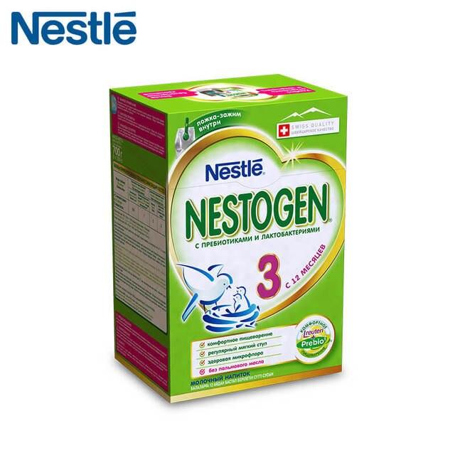 Детская Смесь NESTOGEN 3 (Nestle) с 12 месяцев 700г