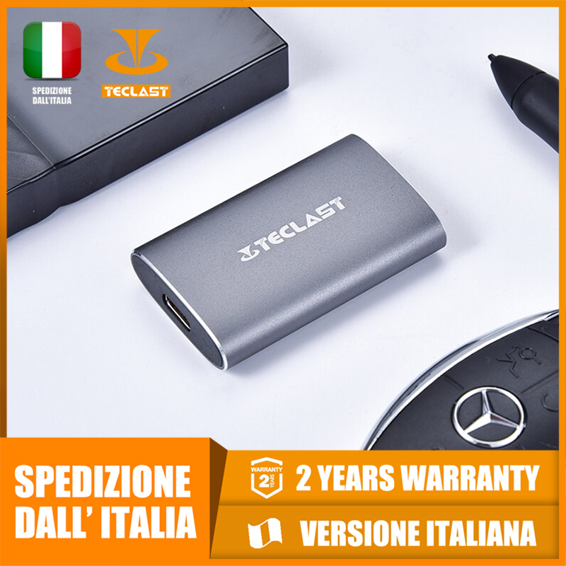 Teclast S30 External SSD USB3.1, Light And Compact, Fast Reading And Writing, Fast Shipping From Italy