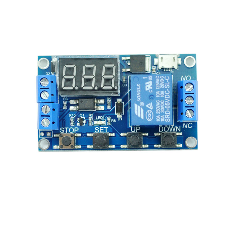 Delay switch 1 way relay module 5v12v Trigger delay off power off Automatic timing loop cycle through off trigger delay power off delay time adjustable 220v relay delay timer switch