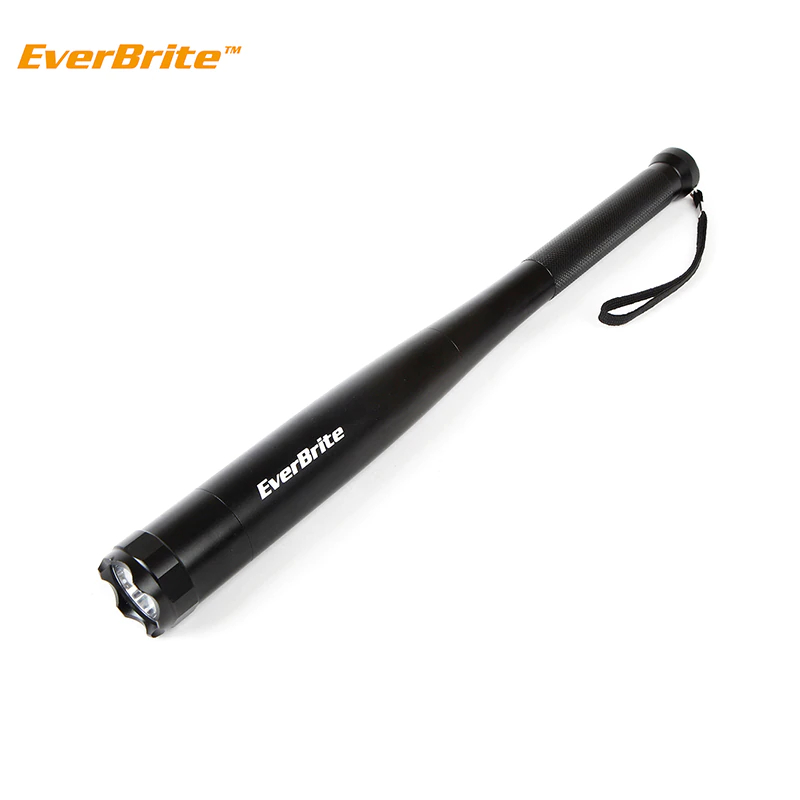 EverBrite Baseball Bat LED Flashlight 2000 Lumens Baton Torch Light for Self Defense Security Cam E011030AE sofirn new sp32a powerful led flashlight 18650 cree xpl2 1500lm high power two groups light torch stepless dimming no battery