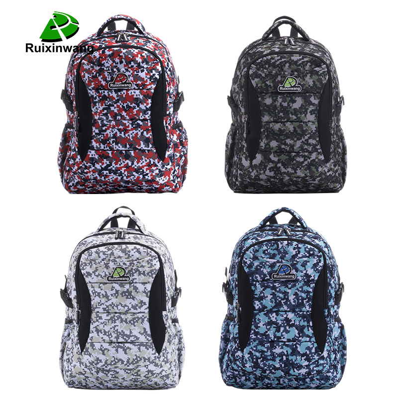 Ruixinwang Military camouflage backpack Men Women Laptop Casual bag Nylon High Quality Brand Female Men Travel Backpack 2017 hot sale men 50l military army bag men backpack high quality waterproof nylon laptop backpacks camouflage bags freeshipping