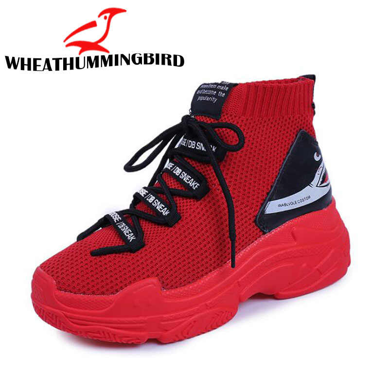 563620933ccb3 ... 2018 New Female Gym Shoes Trainers Breathable Leisure Red Sneakers  Woman Casual Shoes Flat Platform Heels. RELATED PRODUCTS. New High top ...
