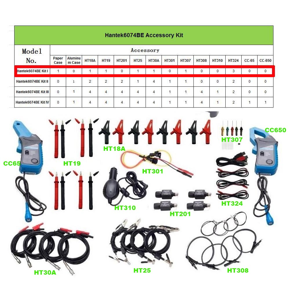O099 6074BE (Kit I) Over 80 Types of Automotive Measurement Function USB2.0 4 Isolated Channels Oscilloscope 70MHz bandwidth