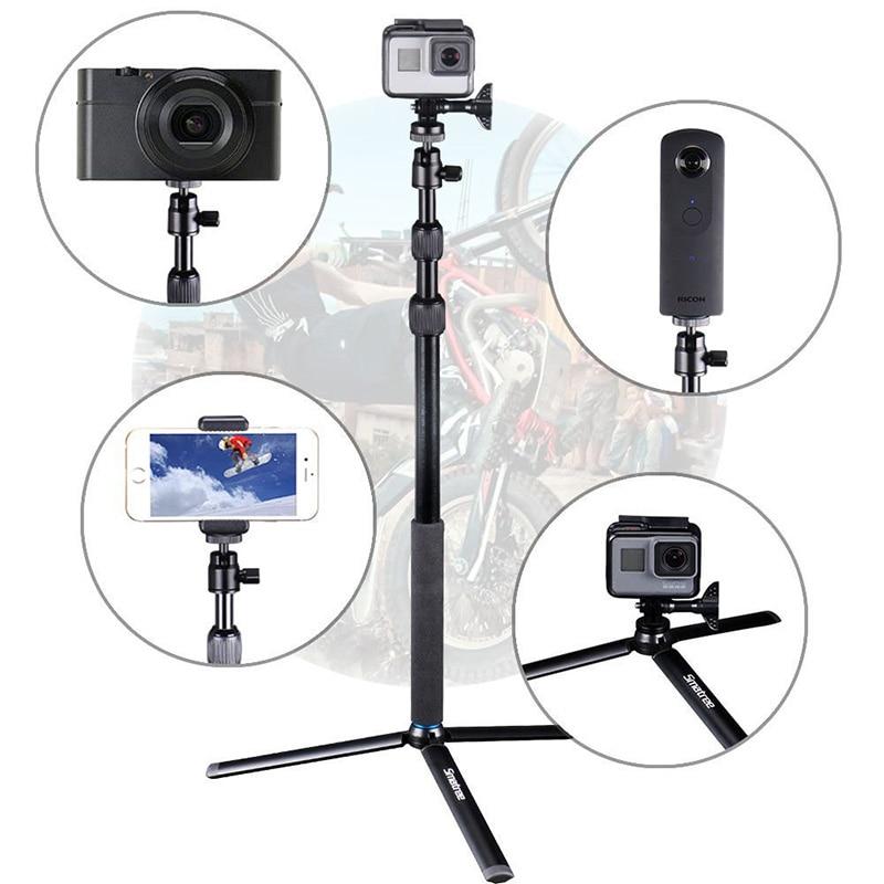 Smatree bâton de Selfie télescopique avec trépied support pour GoPro Hero 7/6/5/4/3 + caméras, Ricoh Theta S, OSMO Mobile 2/DJI OSMO Action - 6