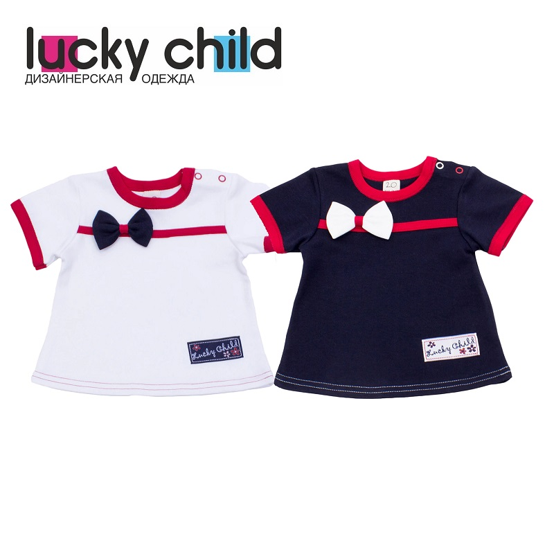 T-Shirts Lucky Child for girls 18-26 (24M-3T) T Shirt Children clothes stylish v neck half sleeves solid color t shirt for women
