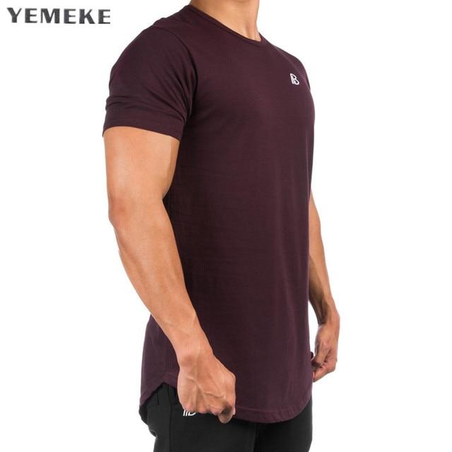 2018 Mens Tight Fitting Short Sleeved T shirt Fitness Organization
