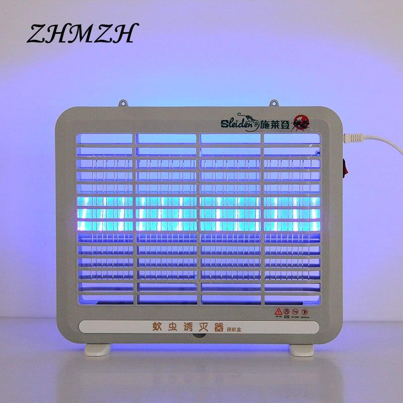 220 V hogar LED Mosquito asesino lámpara eléctrica choque Mosquitos trampa insectos Zapper insectos asesino luz repelente mata moscas