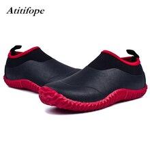 Unisex Waterproof Garden Shoes Womens Rain Boots Mens Car Wash Footwear Neoprene