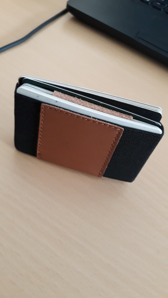 Elastic Card Holder Small Credit Card Holder with Cash Coin Purse Magic Cardholder Minimalist Slim Business ID Card Wallet photo review