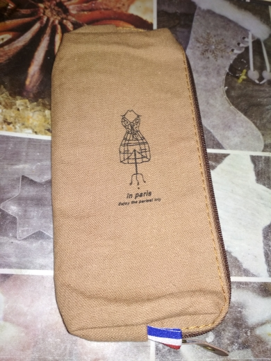 Retro Paris Classic 4Colors 18CM Canvas Kinderzak voor meisjes BAG; Vrouwen make-up pen opberg portemonnee portemonnee zakje tas photo review