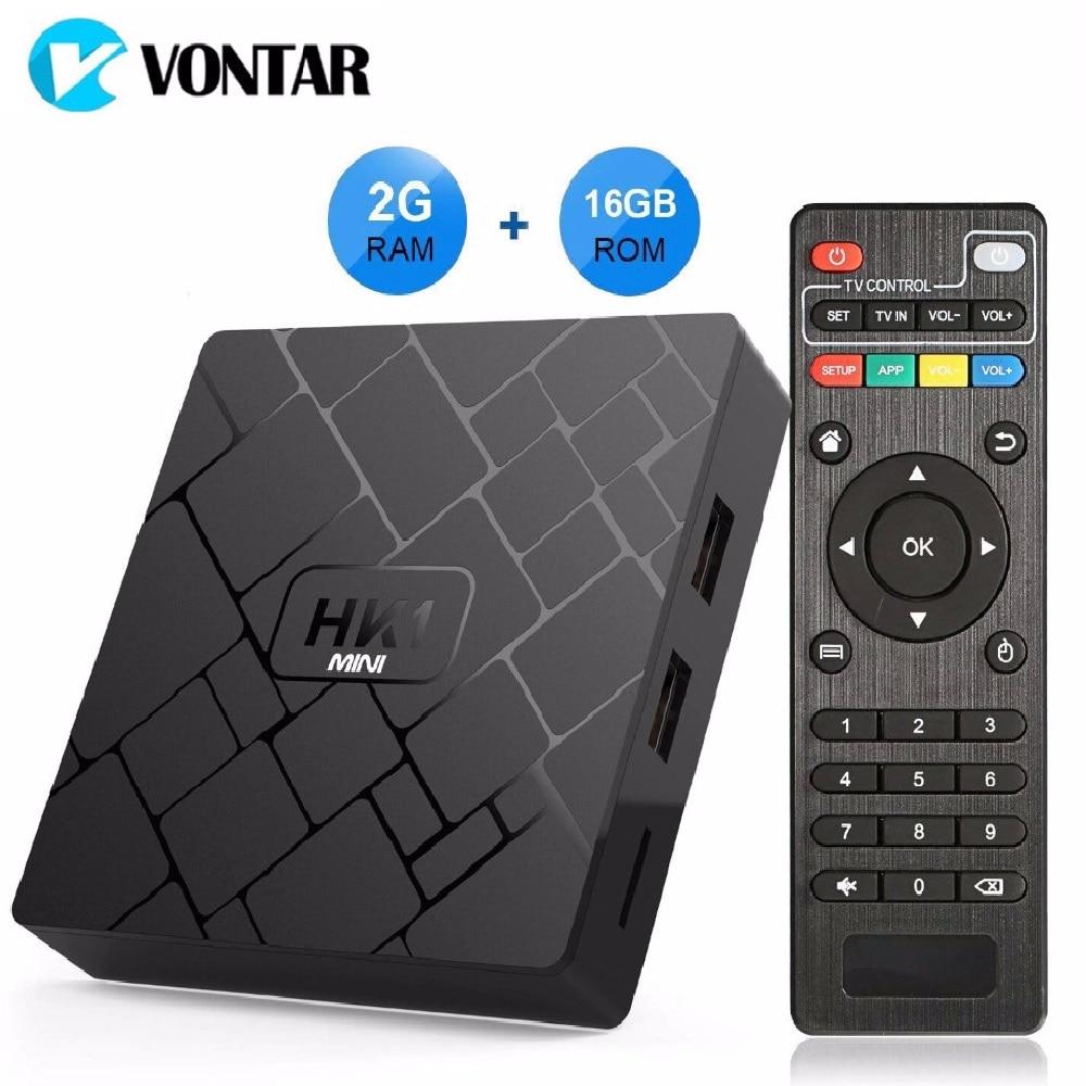 Android 8,1 caja de TV inteligente HK1 mini 2 GB 16 GB Rockchip RK3229 Quad core WIFI H.265 HEVC 4 K 3D Set Top Box Media Player