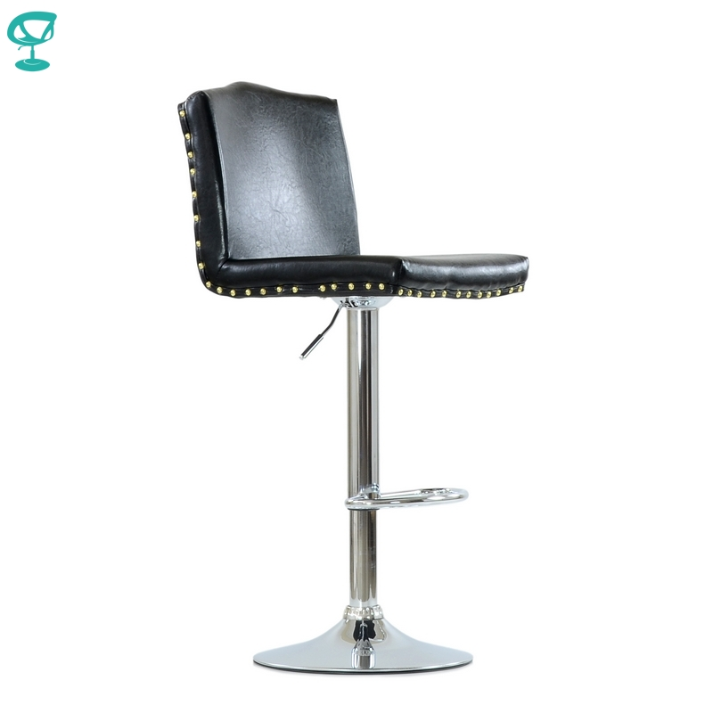 N98CrSPUblack Barneo N-98 SPU Leather Kitchen Breakfast Bar Stool Swivel Bar Chair Black Color Free Shipping In Russia
