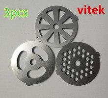 3pcs meat grinder plate net knife meat grinder parts for vitek Universal variety of models 380 382 383 385 386 387 388 Etc.
