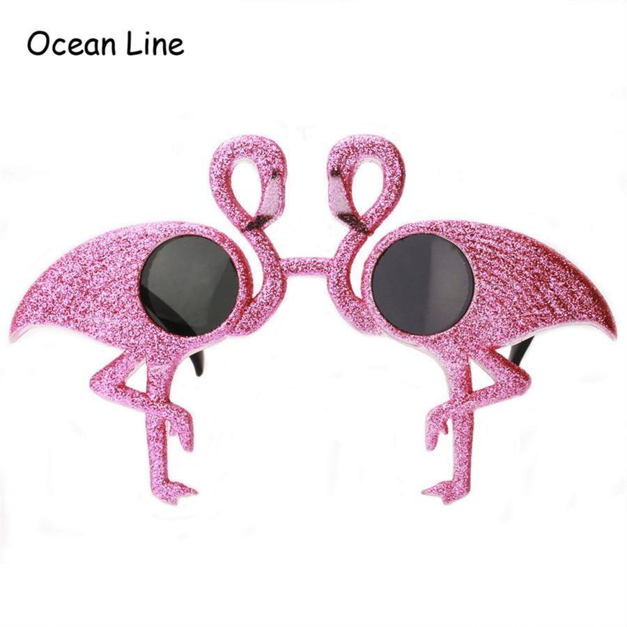 Funny Glitter Flamingos Ornaments Costume Briller Novelty Flamingo - Varer til ferie og fester - Foto 1