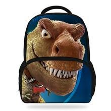 Купить с кэшбэком 14Inch Hot Sale Kids Schoolbag Cool Animal Print Dinosaur Backpack For Boys Tyrannosaurus Mochila Children Girls Teenagers Bag