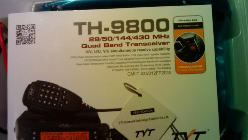 TYT TH-9800 50W Mobile Radio Transceiver Quad Band Car Radio
