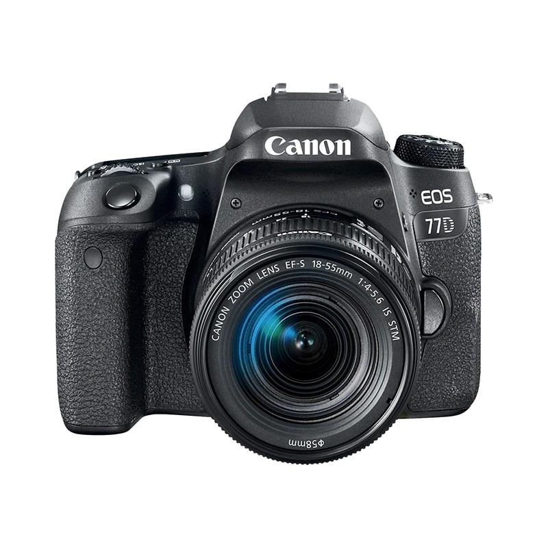 Фото - DSLR Camera Canon EOS 77D 18-55mm black сумка для видеокамеры 100% dslr canon nikon sony pentax slr