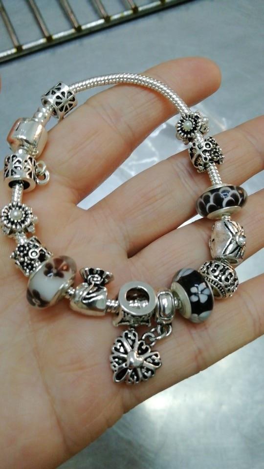 Joyería de plata encantos pulsera de Reina Bamoer /& brazaletes con cuentas de corona de reina