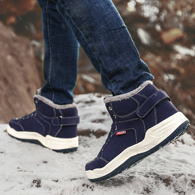 Warmth Sports Man Sneakers Big Size 48 Running Shoes Men Winter Walking Snow Shoes Height Increasing Zapatillas Hombre Deportiva