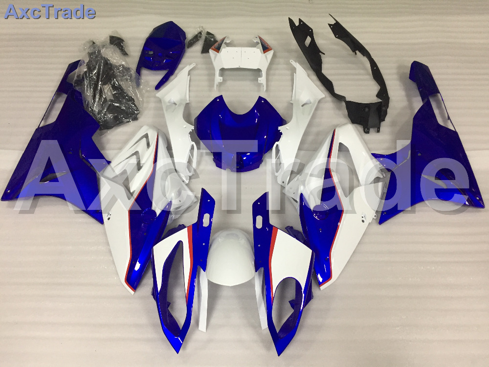 Motorcycle Fairings Kits For BMW S1000RR S1000 2015 2016 15 16 ABS Plastic Injection Fairing Bodywork Kit Blue White A454 motorcycle blue bodywork kit fairing for bmw s1000rr s 1000 rr s 1000rr 2015 15 injection mold fairings cowl set uv painted