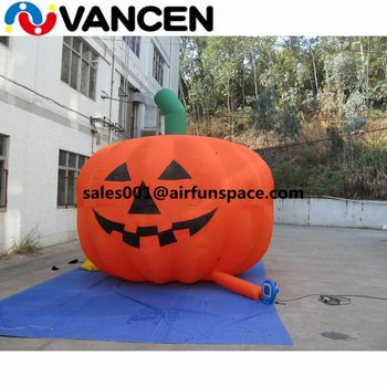Giant inflatable christmas decoration pumpkin for outdoor Oxford cloth inflatable christmas pumpkin with led light decoration inflatable bulb with light