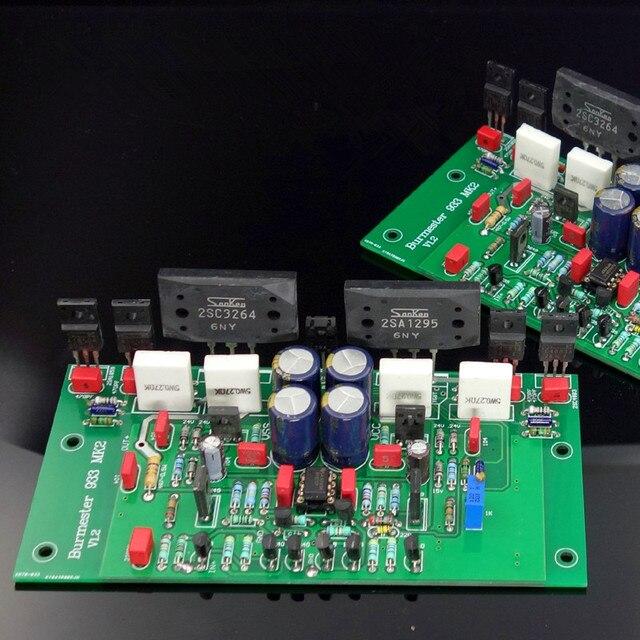 Сборка 2SC3264 2SA1295 Hi Fi стерео усилитель мощности, плата на базе контура Burmester 933 Amp