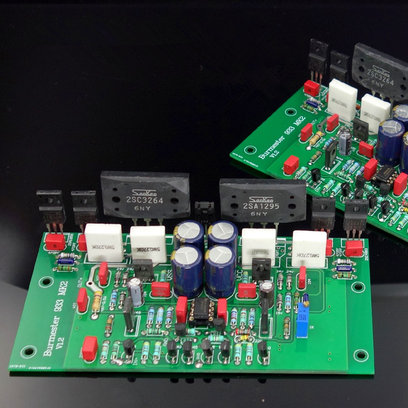 Assemble 2SC3264 2SA1295 HIFI Stereo Power Amplifier Board Based on Burmester 933 Amp Circuit