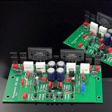Montar 2SC3264 2SA1295 estéreo HIFI placa amplificadora de potencia basado en 933 Amp circuito