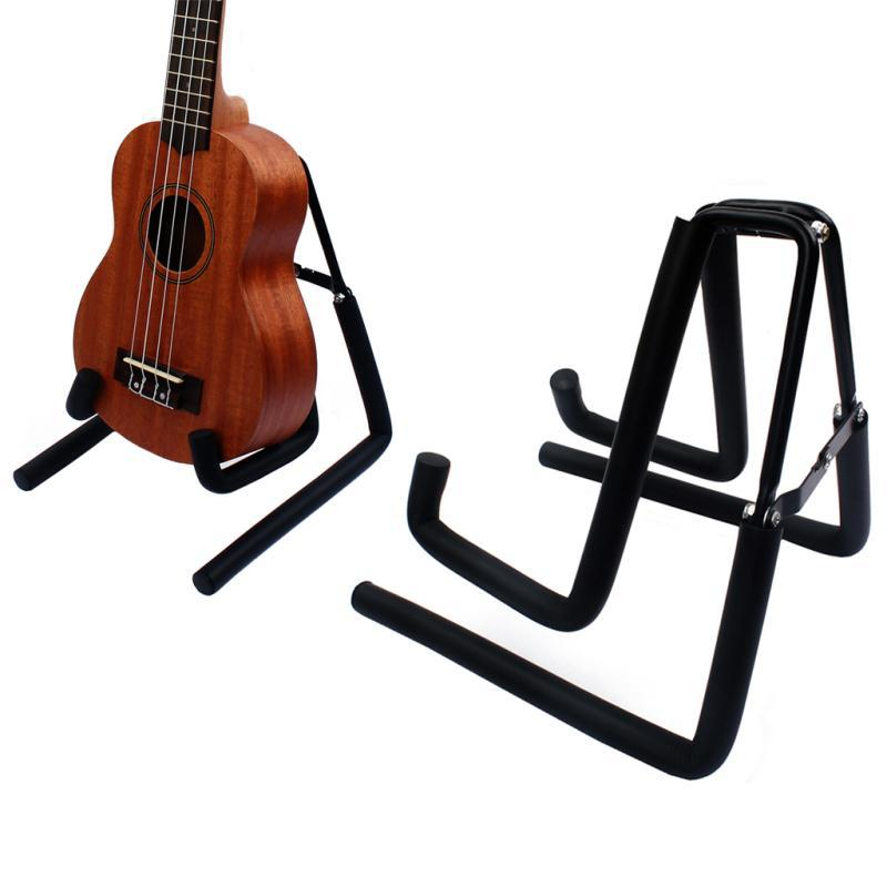 portable universal folding mini guitar stand holder foldable folding acoustic ukulele guitar. Black Bedroom Furniture Sets. Home Design Ideas