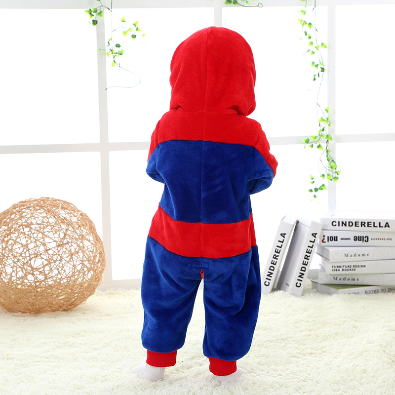 RL 0-24 Month 3D Cartoon Spiderman Superhero Baby Romper Cotton Flannel Jumpsuit 2019 High Quality Spring Autumn Baby Clothes