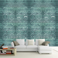 Hand Painted Custom Wallpaper Roll Smiley Wall Papers Home Decor Wood Grain Series Wall Paper Living Room TV Wall Wallpaper