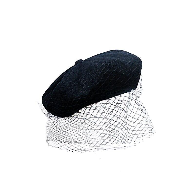 Le palais vintage 2018FW français classique Vintage voile peintres casquette à la main élégant coton lin femmes casquette