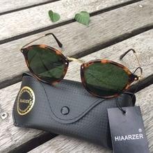 Real Glass Lens Classic G15 Sunglasses Men Women Luxury High Quality 2447 Acetate Oval Sun Glasses UV400 Oculos De Sol With Box