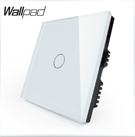 BIG SALES Touch Switch 1 gang 1 way Wallpad Luxury White Glass Switch On,LED Wall Light touch Control switch,110~250V,VL-C301-61