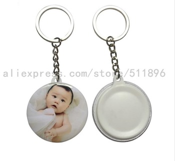 500sets 44mm Blank Link Keychain Button Material