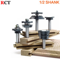 5pc Shaker Raised Panel Cabinetmaker Router Bit Set 1 2 Shank Door Knife Woodworking Cutter Tenon