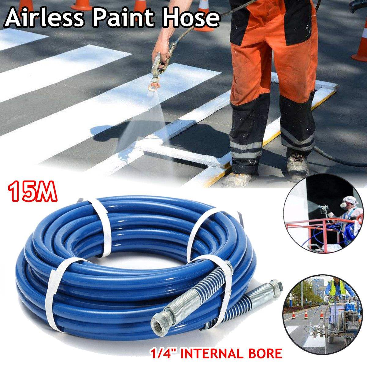 15m 1/4'' High Pressure Expandable Magic Flexible Hose Plastic Hoses 3300PSI Max Airless Paint Spray Hose Tube alfani new gray asymmetrical open front womens large l cardigan sweater $59 071