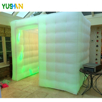 News 8.2ft*5.9ft*7.38ft mini Inflatable photo booth party Backdrop stand with LED strip on bottom Inflatable Tent For party