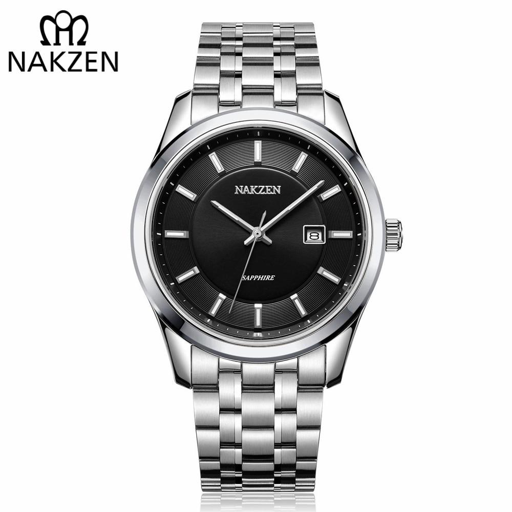 NAKZEN Top Fashion Brand Men Watch Hour Calendar Display Genuine Waterproof Male Quartz Wristwatches Gift Relogio Masculino