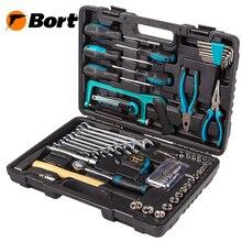 Набор ручного инструмента BORT BTK-89 (89 предметов из высококачественной стали, кейс в комплекте)