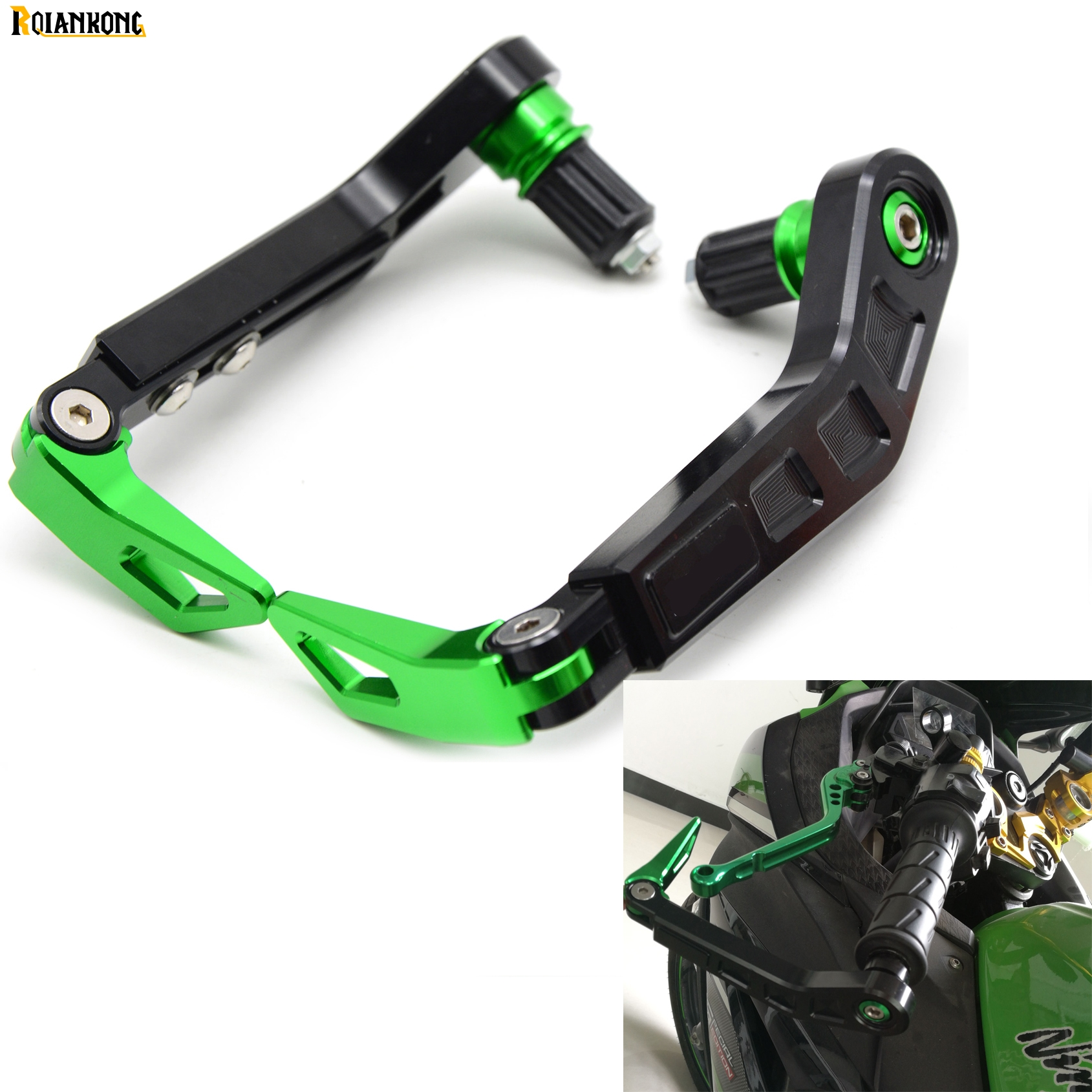 Universal 7/822mm Motorcycle Handlebar Brake Clutch Lever Protect Guard for Kawasaki  Z750 Z750R Z750S R S Z800 /E version for 22mm 7 8 handlebar motorcycle dirt bike universal stunt clutch lever assembly cnc aluminum