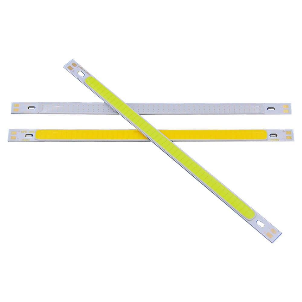 COOLEEON 200*10mm DC12V LED COB Light Strip 10cm 10W Lamp Blue Green Red Warm Cool White Color LED Bar Lights 100mm 12V COB Bulb