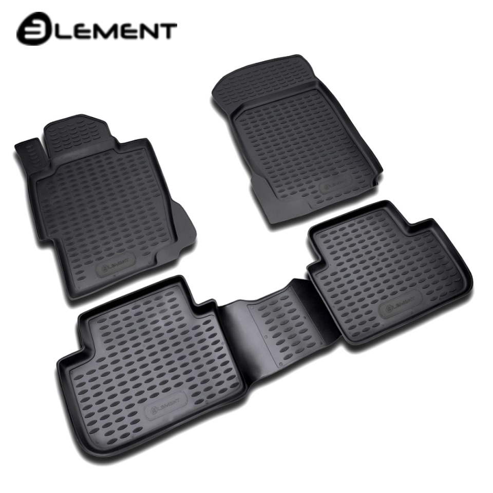цена на For Honda Accord VIII 2008-2012 floor mats into saloon 4 pcs/set Element NLC1802210K